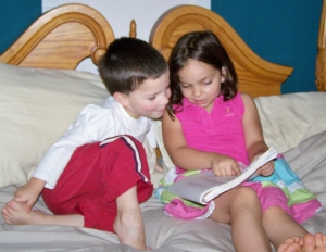 Always good when older siblings can help with a lesson!