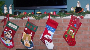 The Stockings (not sure how that Angry Bird found its way into the manger scene)