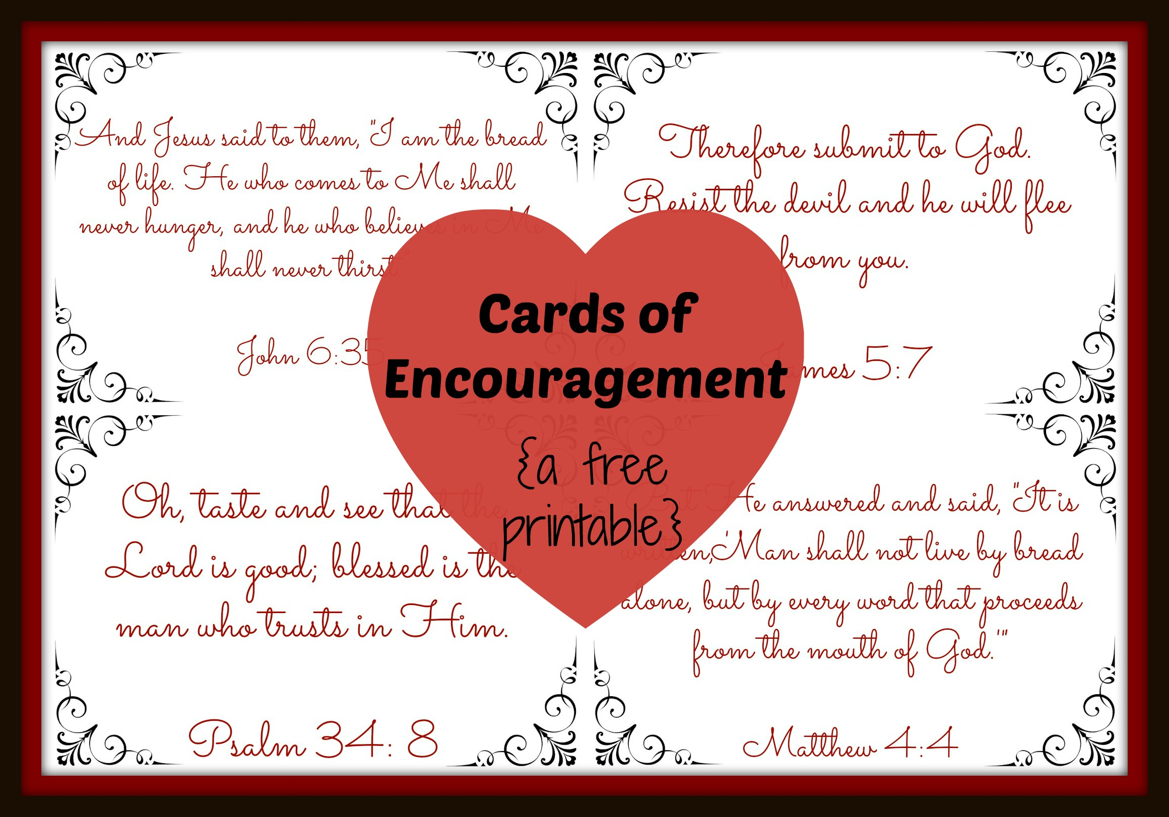 Simplicity image in printable encouragement cards