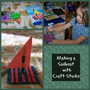 craft stick sailboat