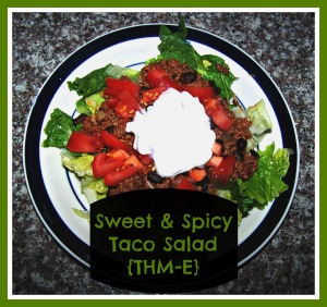 Sweet & Spicy Taco Salad {THM-E}