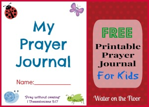 Free Printable Prayer Journal For Kids