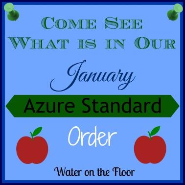 January Azure Standard order