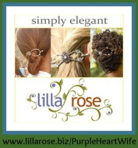 Lilla Rose button