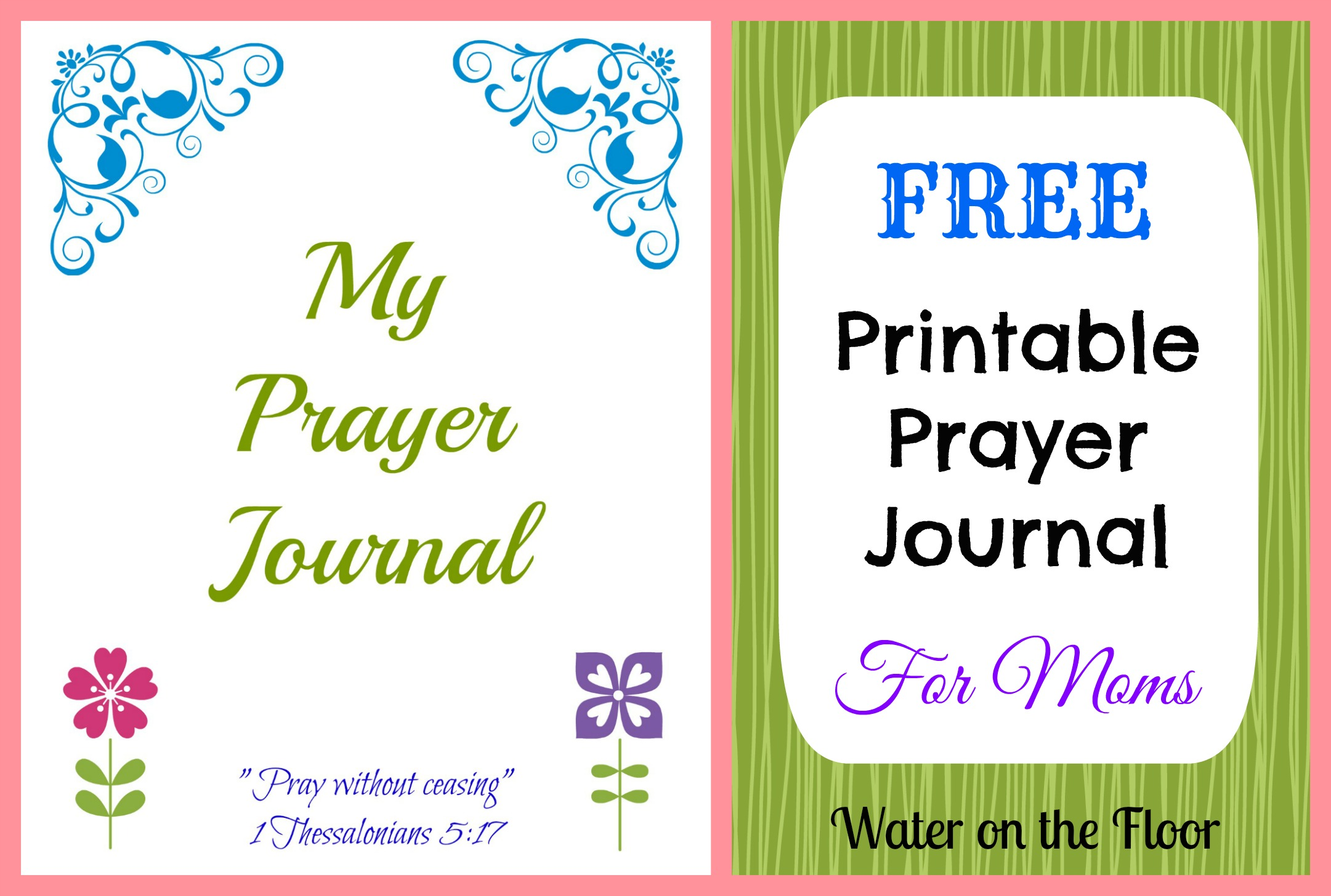 Free printable prayer journal for moms water on the floor for Prayer book template
