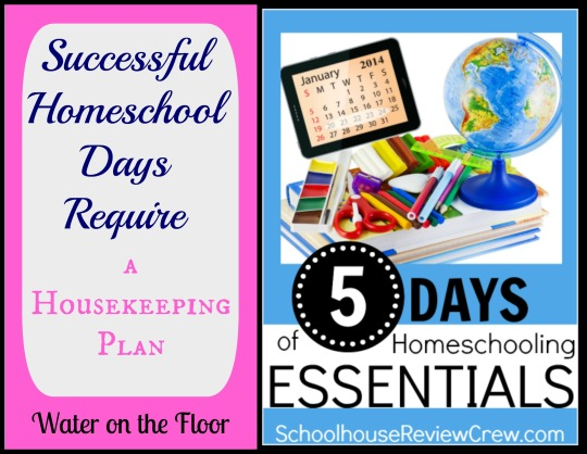 Successful Homeschool Days Require a Housekeeping Plan