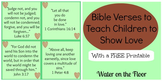 Bible Verses to Teach Children to Show Love